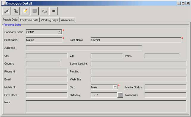 Java gui form example